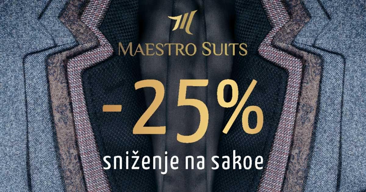 Veliko sniženje sakoa u Maestro Suits